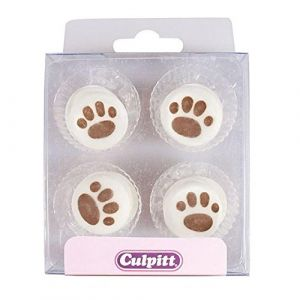 Culpitt Paw Print Cake Decorations