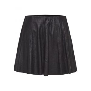 Only Suede Look Skirt Women Black