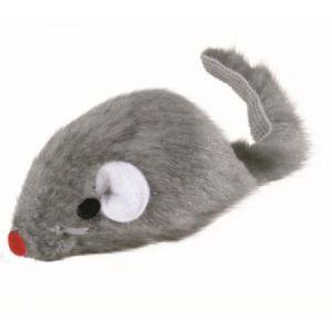 Trixie Souris en peluche grise avec clochette pour chats