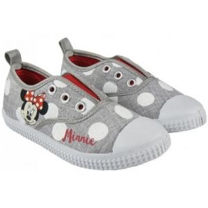 Disney Minnie Mouse 2300002890 Chaussons Sneaker Fille, Baskets Mode, Toile, Gris (29)