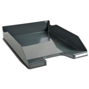 Exacompta 113207D - Corbeille à courrier COMBO MIDI Office, coloris gris souris glossy