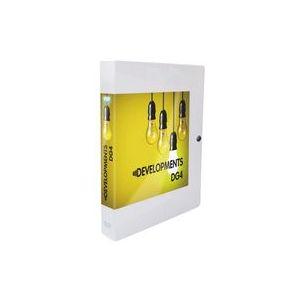 Elba Chemise box plastique personnalisable 24 x 32 cm dos 4 cm incolore