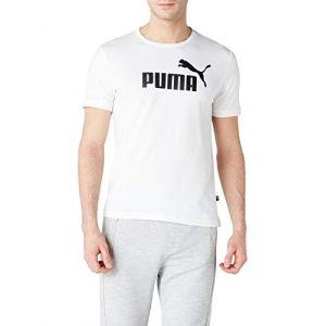 Puma Ess, T-Shirt Homme White, FR : 2XL (Taille Fabricant : XXL)
