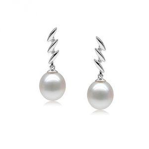 Blue Pearls Bps P300 Q - Boucles d'oreilles Design en argent et perle de culture