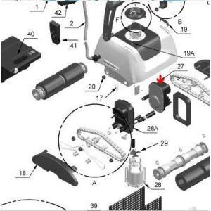 Procopi 1017318 - Moteur principal de traction Star Vac III