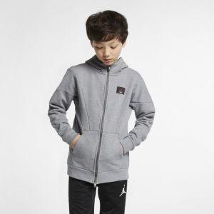 Nike Sweatà capuche entièrement zippé Jordan Flight Lite pour Garçon plus âgé Gris Couleur Gris Taille S