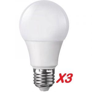 Lampesecoenergie Lot de 3 Ampoules LED V-TAC Culot E27 7W (éq. 45W) 470lm angle 200° lumière Blanc Froid 6400K