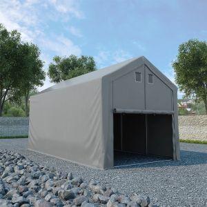 VidaXL Tente de rangement PVC 5 x 10 m Gris
