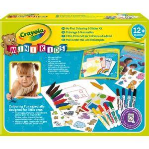 Crayola Mon 1er coffret de coloriage et de gommettes Mini Kids