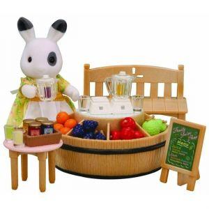 Epoch Sylvanian Families 4478 - Bar à jus de fruits + figurine