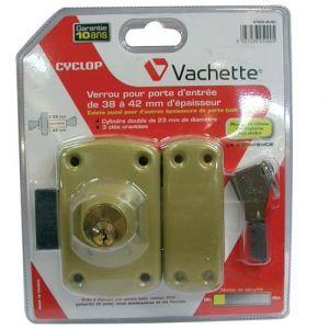 Vachette Verrou à double cylindre Cyclop - 45 mm