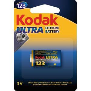 Kodak Piles lithium Ultra CR123 - Vendu par 1
