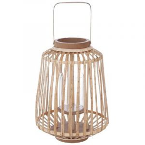 """Lanterne Design """"Rattan"""" 35cm Naturel Prix"""