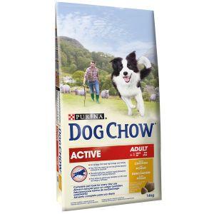 Dog chow Adult Active Poulet et Riz - Sac 14 kg
