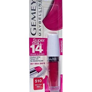 Maybelline Gemey - Superstay 24H - Rouge à lèvres Rouge - 510 rouge passion