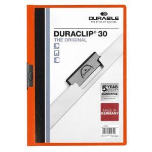 DURACLIP Durable Chemise de présentation à clip 30 feuilles Orange