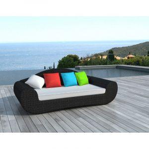 Delorm Design Canapé de jardin couleurs en résine tressée SD2002