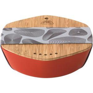 Robens Leaf Meal Kit - Set de vaisselle taille 20 x 18.3 x 5.5 cm, rouge/beige/gris