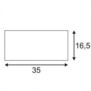 SLV Plafonnier Ampoule halogène, LED GU10 EEC: selon lampoule (A++ - E) 105 W Plastra Box 148053 blanc