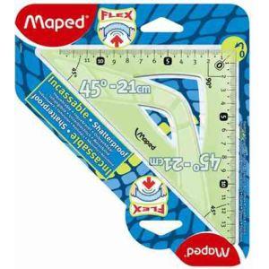 Maped Équerre 45° Incassable Flex en plastique 26 cm