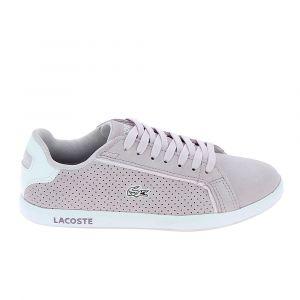 Lacoste Basket mode sneakerbasket mode sneakers graduate violet clair blanc 40