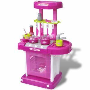 VidaXL Cuisine-jouet pour enfants avec effets lumineux/sonores rose