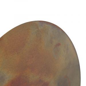 Qazqa Applique orientale ronde brun rouille - Pianeta Rustique, Classique/Antique Luminaire interieur
