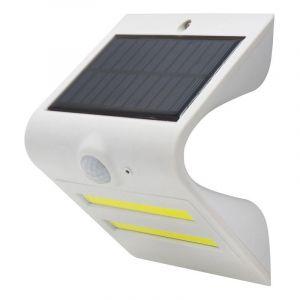 Gefom Applique solaire balisage + éclairage LED avec détecteur de mouvement, 1,5W, 180 lumens, 2 COB + 3 SMD blanche