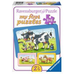 Ravensburger 3 puzzles My First Puzzle Animaux de la ferme 6 pièces