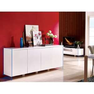 buffet blanc laque led comparer 130 offres. Black Bedroom Furniture Sets. Home Design Ideas