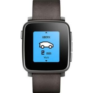 Pebble Time Steel - Montre connectée Bluetooth (IOS,Android)