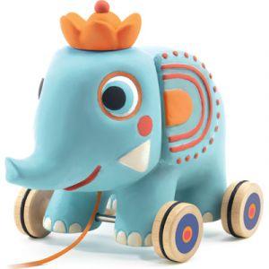 Djeco Jouet à tirer : Zephir l'éléphant