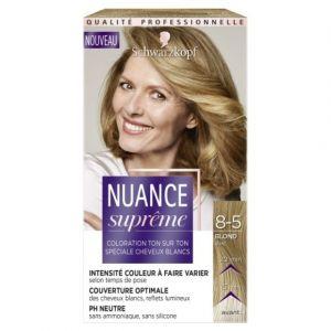 Schwarzkopf Coloration ton sur ton spéciale cheveux blancs 8-5 blond