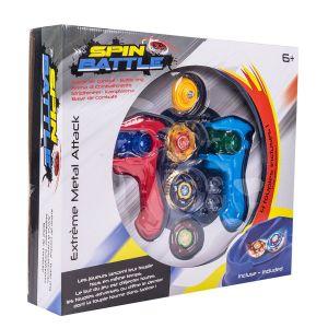 Spin Battle Arène 4 toupies : Extrême métal attack