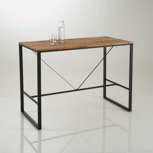 Table bar haute, Hiba Naturel Taille 6 pers