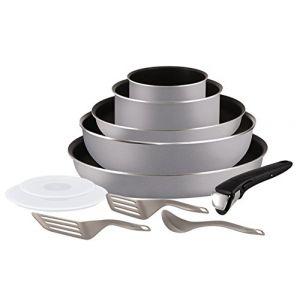 Image de Tefal L2149902 Set de poêles et casseroles - Ingenio 5 Essential Gris Scottish 11 Pièces - Tous feux sauf induction