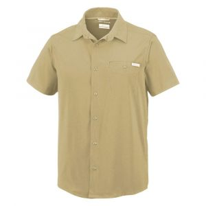Columbia Triple Canyon Solid Chemise à Manches Courtes Homme, Beige (Fossil), M