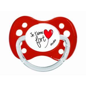 Dodie 2107972 - Sucette physiologique Coeurs en silicone avec anneau (6 mois +)