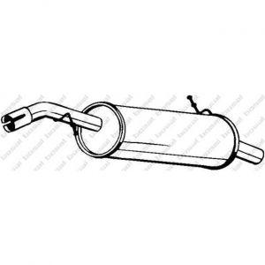 Bosal Silencieux arrière 190-237