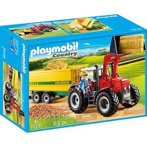 Playmobil 70131 - Grand Tracteur Avec Remorque