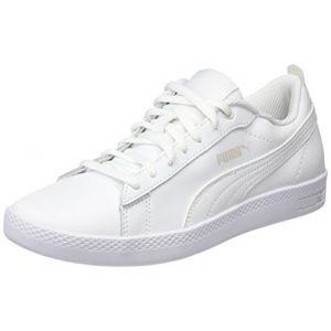 Puma Smash Wns V2 L, Baskets Basses Femme, Blanc White), 39 EU