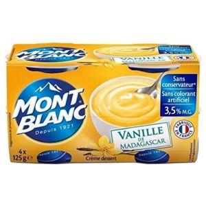 Mont Blanc Crème dessert vanille