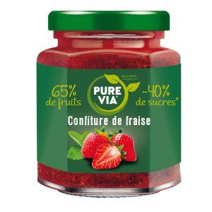 Pure via Confiture De Fraise - Le Pot De 300g