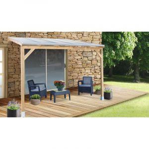 Keter Toit terrasse en pin et toiture en polycarbonate 3x3m