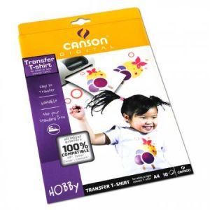 Canson Papier Transfert A4 pour T-Shirt 10 feuilles