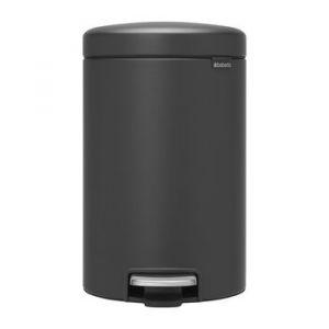 Brabantia Poubelle à Pédale newIcon, 12 litres, Mineral Infinite Grey - 113802
