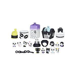 Hasbro Littlest PetShop - Pack de 13 Teensie Noir & Blanc