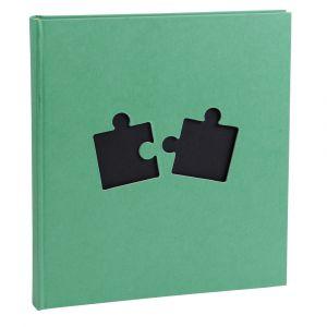 Exacompta 16853E - Album photos Puzzle 29x32 cm, 60p. noires/300 photos, reliure livre, coloris assortis (3)