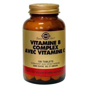 Solgar Vitamine b complexe avec vitamine c - 100 comprimés