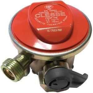Alice's Garden Détendeur NF pour consigne de gaz Quick-On Propane, 37Mbar sortie M20x1,5mm, avec sécurité, pour ELFI, CALYPSO, MALICE, TWINY, CLAIRGAZ, SHESHA
